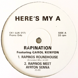 "Rapination (The Rapino Brothers) - Here's My A (12"") (Promo) (VG/NM)"